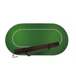 Pokertuch mit Rückseite aus Gummi - grün